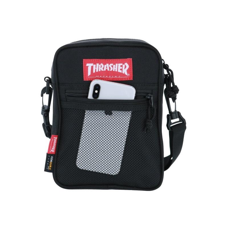 メッシュポケット付きのTHRASHERのミニショルダーバッグ